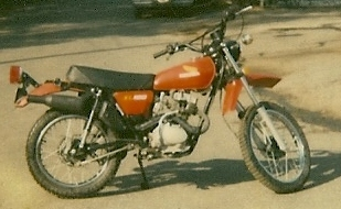 1978 Honda XL100 dirtbike