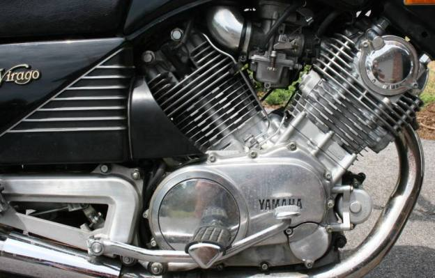 Oil Filter Location on 1983 Yamaha Virago 750, 750 Midnight and 920