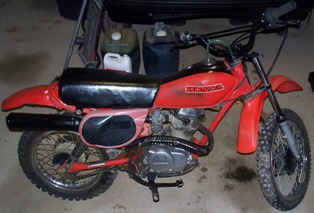 1982 Honda XR80 dirtbike