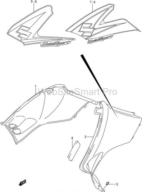 Suzuki LT-Z400 Quad Sport Side Covers