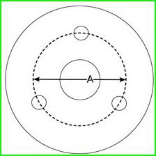 3 lug atv wheel or quad rim