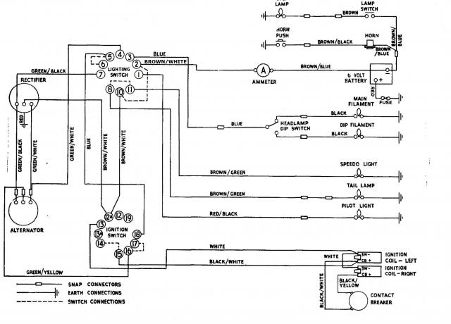 1964 Triumph TR6 Wiring Digram tr6 wiring diagram tr10 wiring diagram \u2022 wiring diagrams j wiring diagram 1971 triumph bonneville t120r at reclaimingppi.co