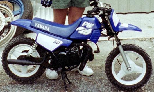 Blue Yamaha Dirt Bike