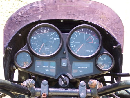 1983 CB1100F SuperSport Gauge Panel