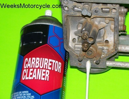 Clean carburetor needle seat